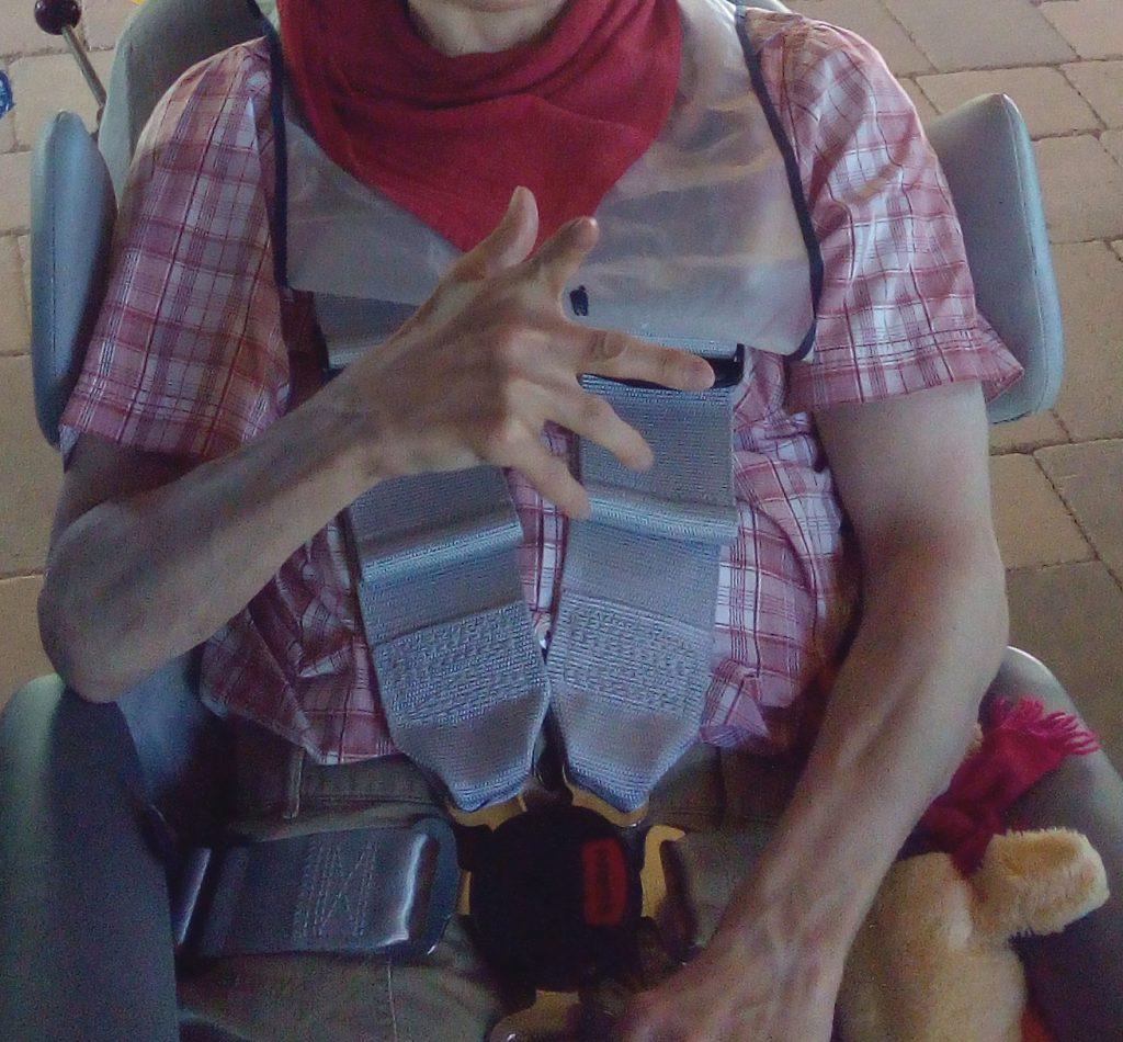 veiligheidsgordel in de rolstoel